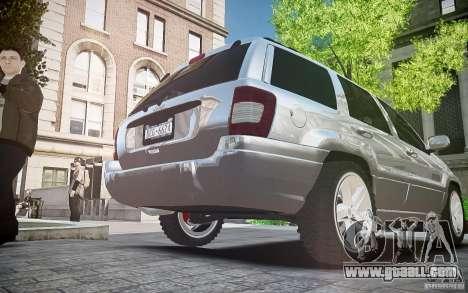 Jeep Grand Cheroke for GTA 4 inner view