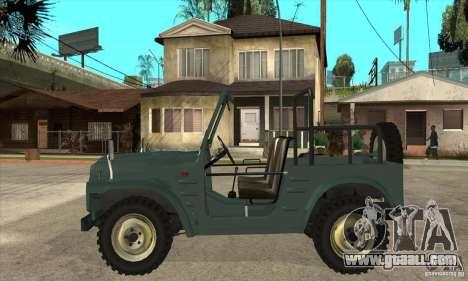 Suzuki Jimny for GTA San Andreas left view
