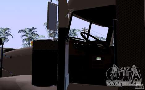 Freightliner SD 120 for GTA San Andreas inner view