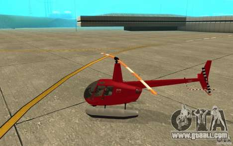 Robinson R44 Clipper II 1.0 for GTA San Andreas back left view