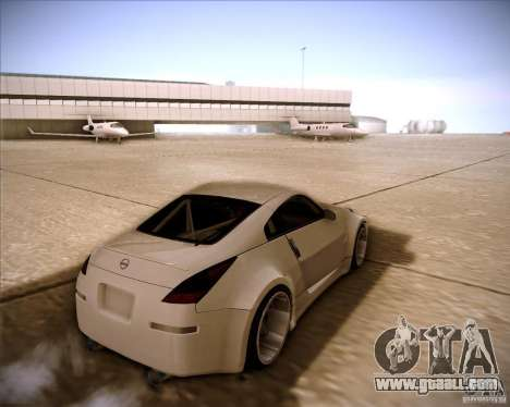 Nissan 350Z AdHoc for GTA San Andreas left view