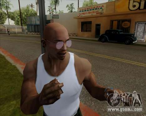 Pink Aviator glasses for GTA San Andreas fifth screenshot