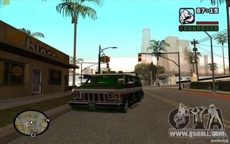 Grove Street Gang Burrito for GTA San Andreas left view