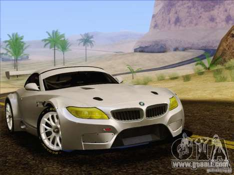 BMW Z4 E89 GT3 2010 Final for GTA San Andreas back left view