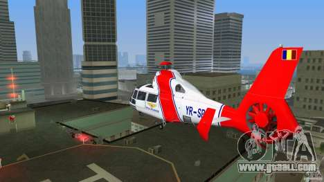 Eurocopter As-365N Dauphin II for GTA Vice City back view
