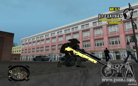 Gold Weapon Pack v 2.1 for GTA San Andreas fifth screenshot