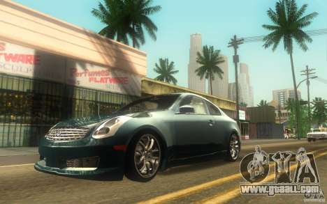 Infiniti G35 - Stock for GTA San Andreas