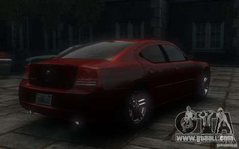 Dodge Charger RT Hemi 2008 for GTA 4 back view