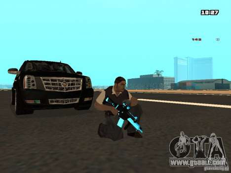 Black & Blue guns for GTA San Andreas third screenshot