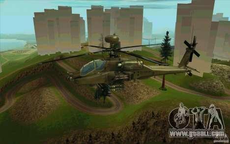 Apache AH64D Longbow for GTA San Andreas upper view