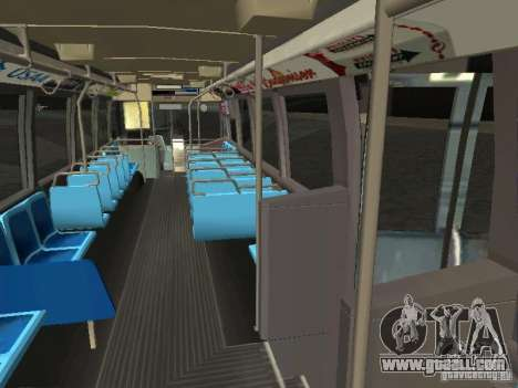 GMC RTS MTA New York City Bus for GTA San Andreas inner view