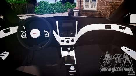 Subaru Impreza WRX 2011 for GTA 4 right view