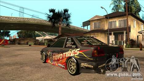 Toyota Corolla AE86 Grid for GTA San Andreas back left view