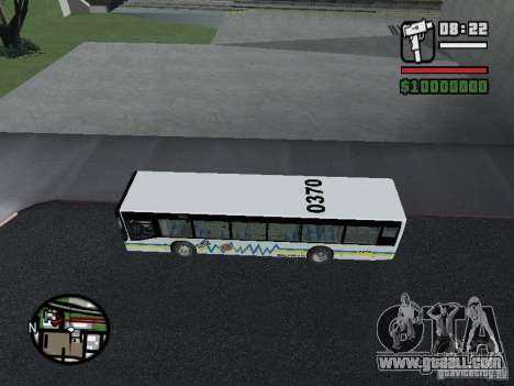 Onibus for GTA San Andreas back left view