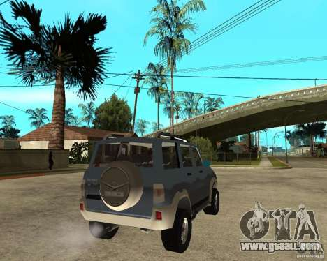 UAZ Patriot 4 x 4 for GTA San Andreas back left view