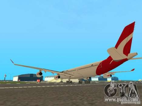 Airbus A340-300 Qantas Airlines for GTA San Andreas right view