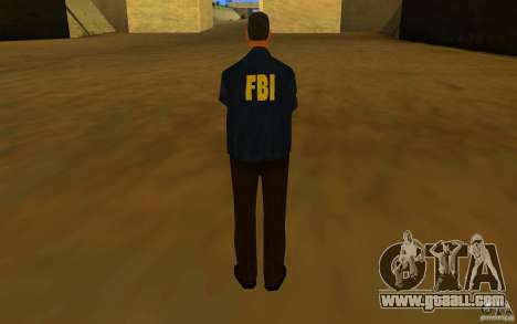 HQ skin FBI for GTA San Andreas forth screenshot