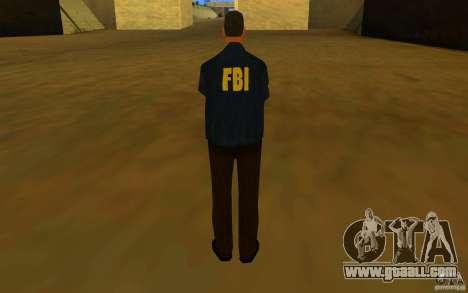 HQ skin FBI for GTA San Andreas forth screenshot
