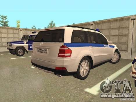 Mercedes Benz GL500 Police for GTA San Andreas right view