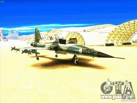 F-5E Tiger for GTA San Andreas