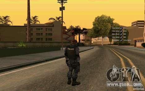 SWAT skin for GTA San Andreas second screenshot