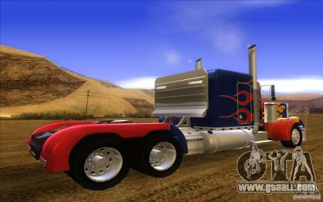Truck Optimus Prime v2.0 for GTA San Andreas left view