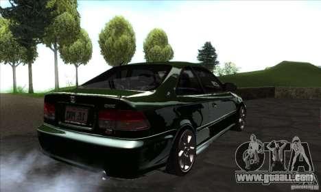 Honda Civic 1995 for GTA San Andreas right view