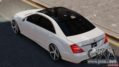 Mercedes-Benz S65 W221 AMG Vossen for GTA 4 left view