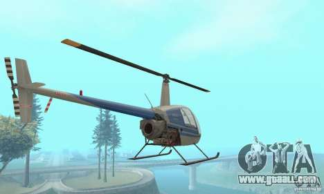 Robinson R22 for GTA San Andreas back view