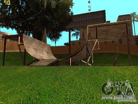 New SkatePark v2 for GTA San Andreas forth screenshot
