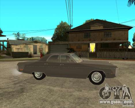 1972 Plymouth Fury III Stock for GTA San Andreas right view