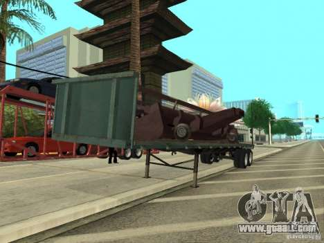 American Trailers Pack for GTA San Andreas left view