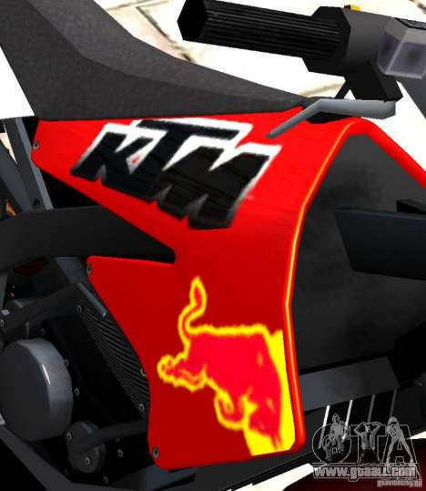 KTM EXC 450 for GTA 4 back view