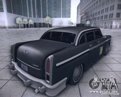 Diablo Cabbie HD for GTA San Andreas back left view