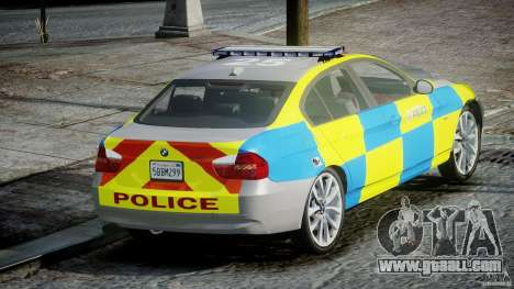 BMW 350i Indonesian Police Car [ELS] for GTA 4 back left view