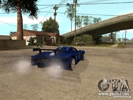 Maserati MC 12 GTrace for GTA San Andreas back left view