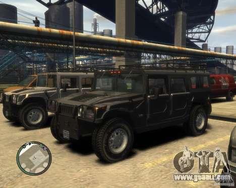 Hummer H1 for GTA 4 interior