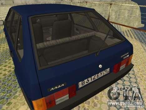 Vaz 2109 Drain V2 for GTA San Andreas right view