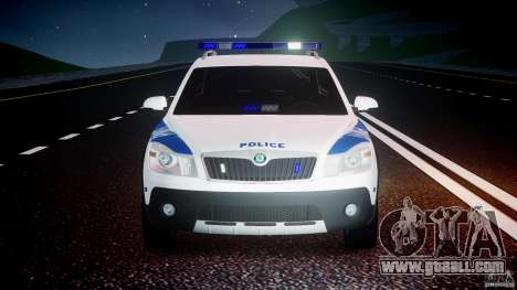 Skoda Octavia Scout NYPD [ELS] for GTA 4 interior