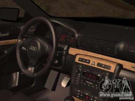 Audi S4 DatShark 2000 for GTA San Andreas bottom view
