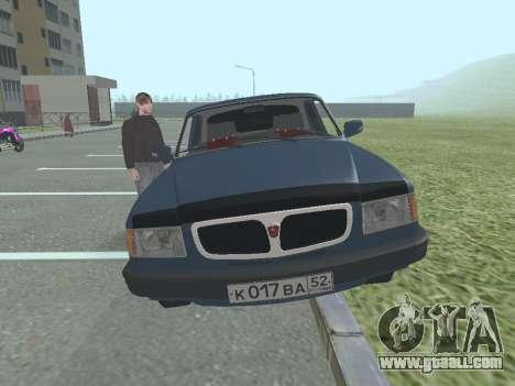 GAZ 3110 Volga v1.0 for GTA San Andreas back left view