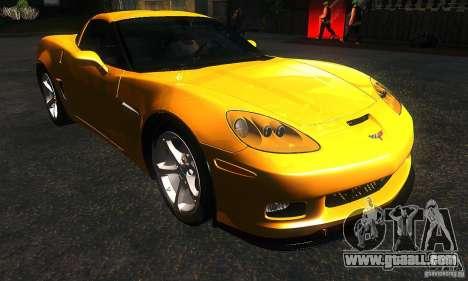Chevrolet Corvette Grand Sport 2010 for GTA San Andreas back view