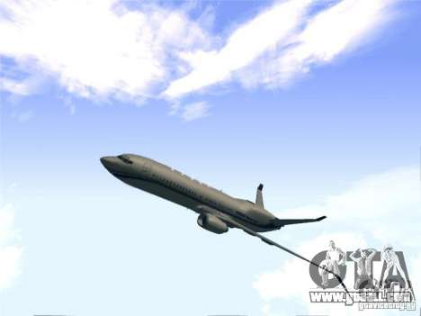 Boeing 737 Iron Man Bussines Jet for GTA San Andreas back left view