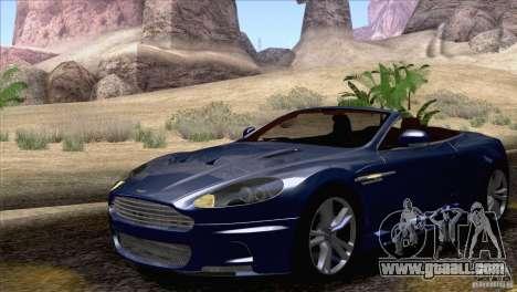 Aston Martin DBS Volante 2009 for GTA San Andreas inner view
