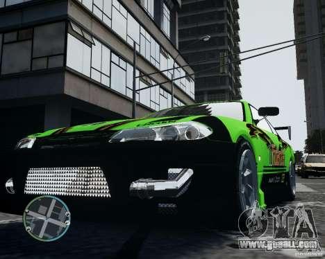 Nissan Silvia for GTA 4 inner view