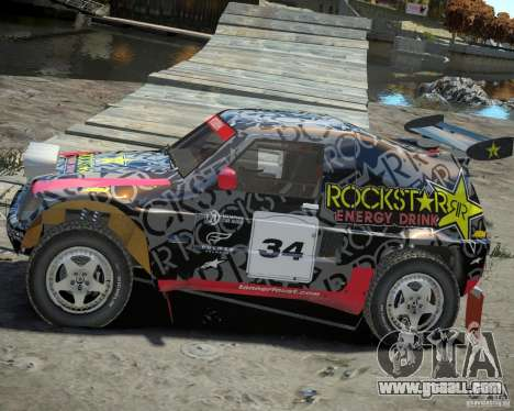 Mitsubishi Pajero Proto Dakar EK86 vinyl 1 for GTA 4 left view