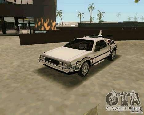 BTTF DeLorean DMC 12 for GTA Vice City right view
