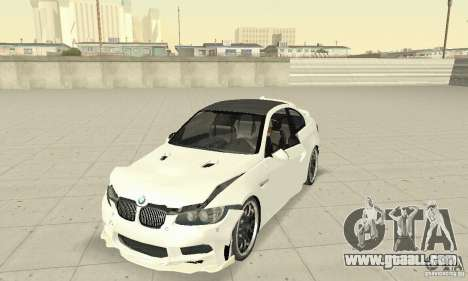 BMW M3 2008 Hamann v1.2 for GTA San Andreas upper view