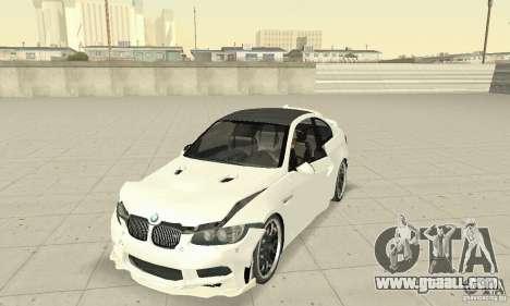 BMW M3 2008 Hamann v1.2 for GTA San Andreas upper view