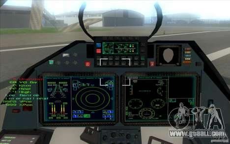 SU t-50 Pak FA for GTA San Andreas back view